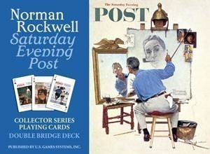 Norman Rockwell Saturday Evening Post Playing Cards Double Deck Set