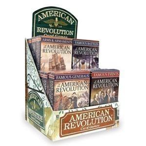 American Revolution Card Games 12-unit Display