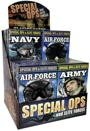 Special Ops and Elite Forces Playing Cards 12-unit Display