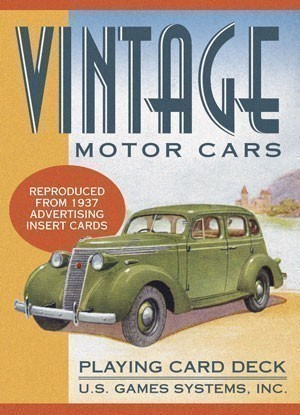 Vintage Motor Cars Playing Card Deck