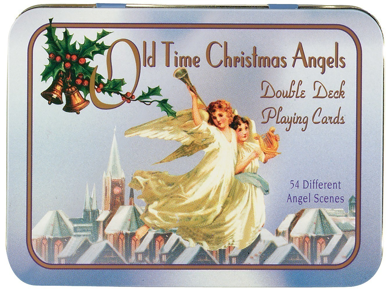 Old Time Christmas Angels Deluxe Double Bridge Deck