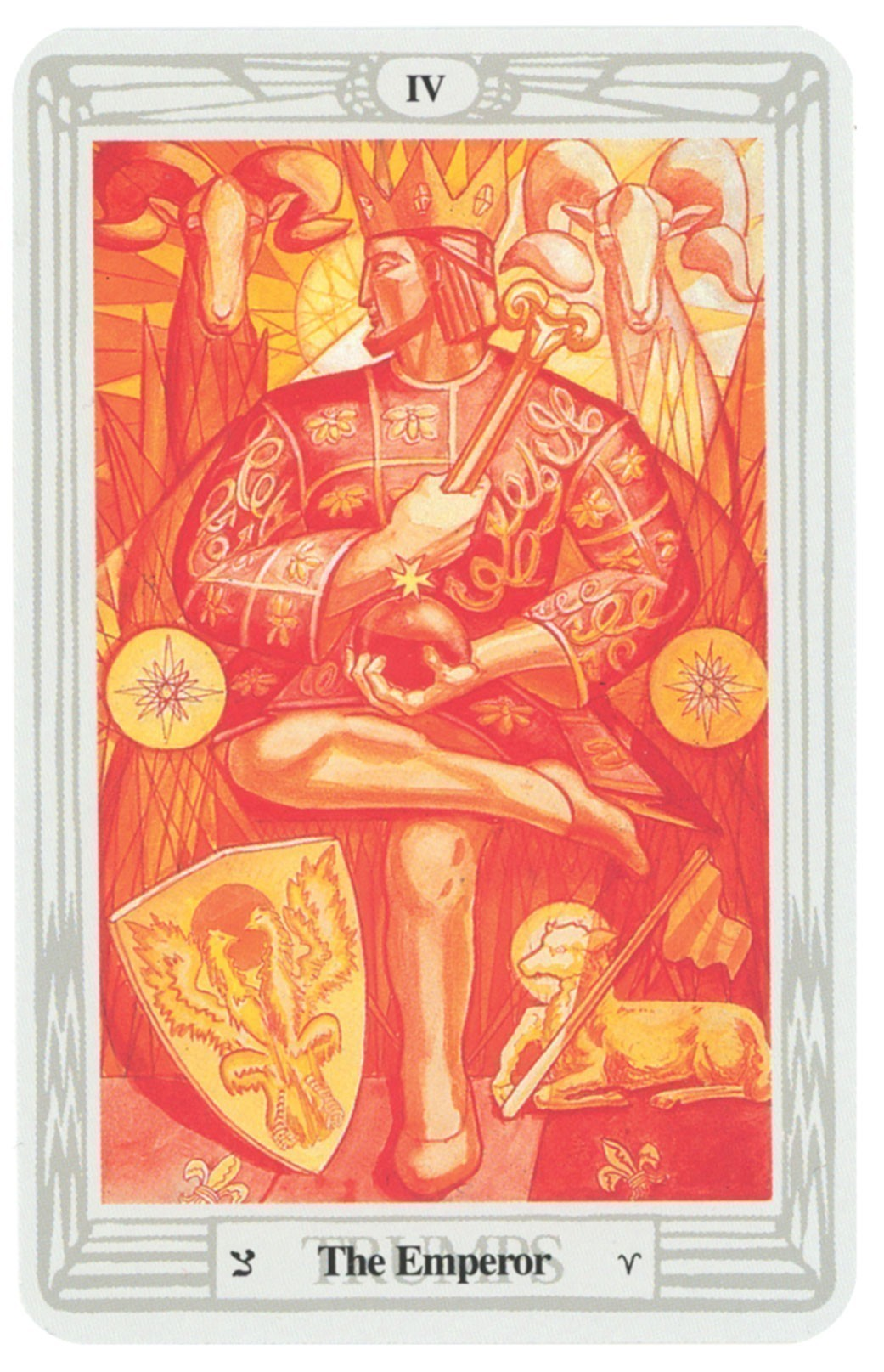 Aleister Crowley Deluxe Tarot: Gilded Deck & Book Set