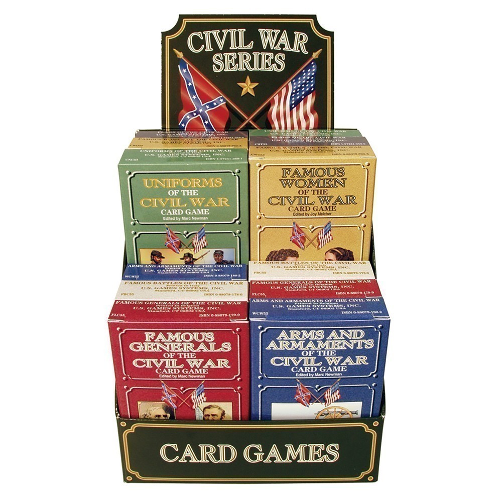 Civil War Series Card Games 12-deck Display