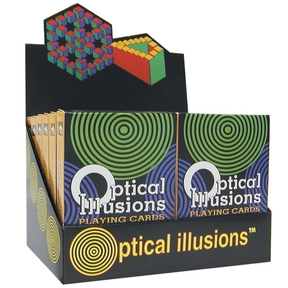Optical Illusions Playing Card Deck 12-deck Display: