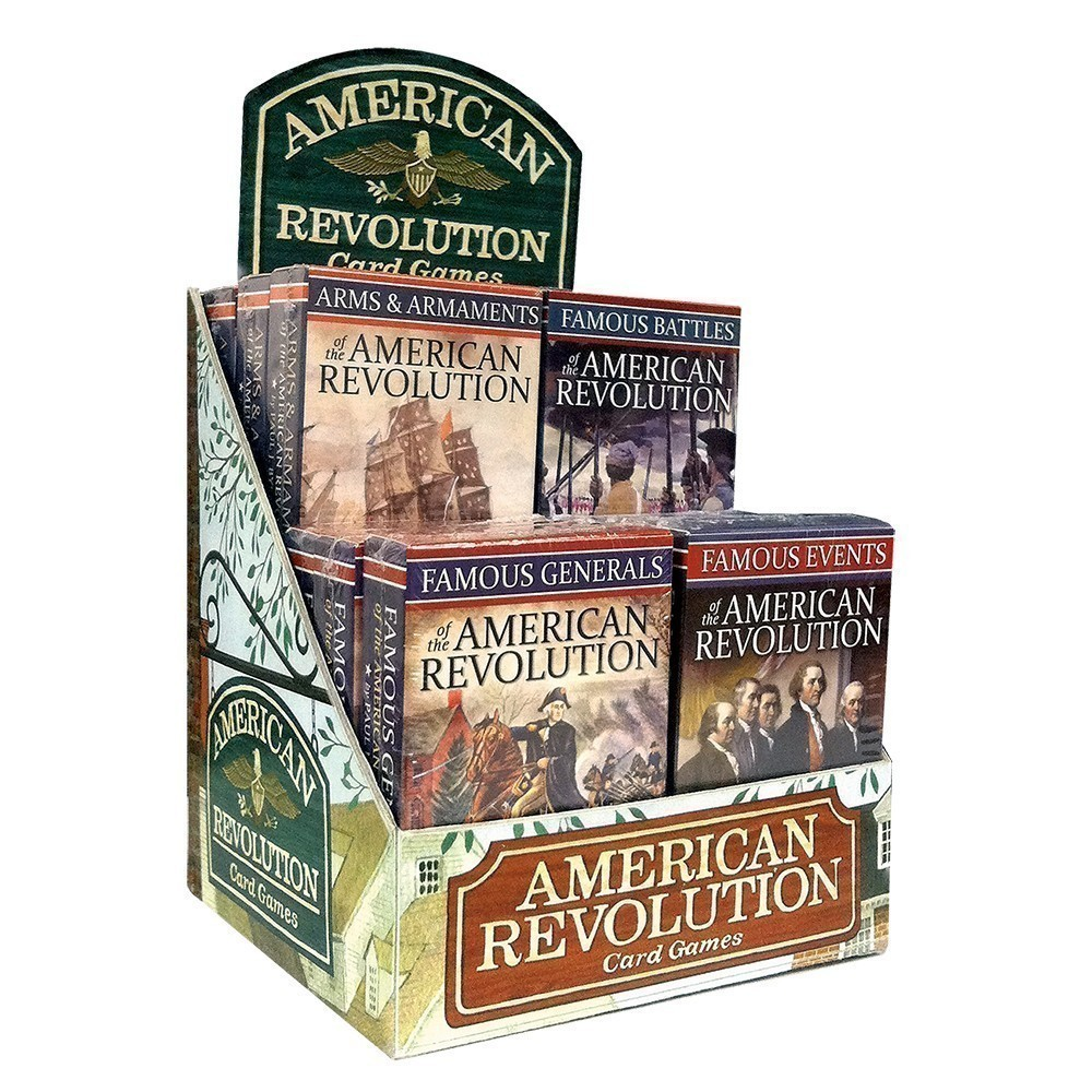 American Revolution Card Games 12-unit Display