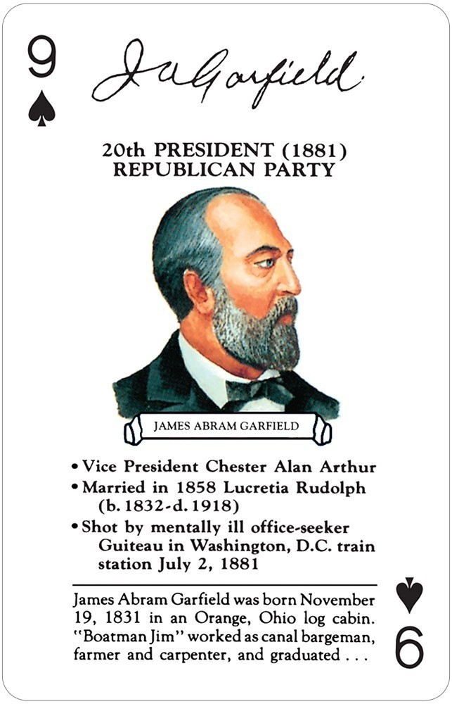 Presidents II Card Game (Taylor to Cleveland)