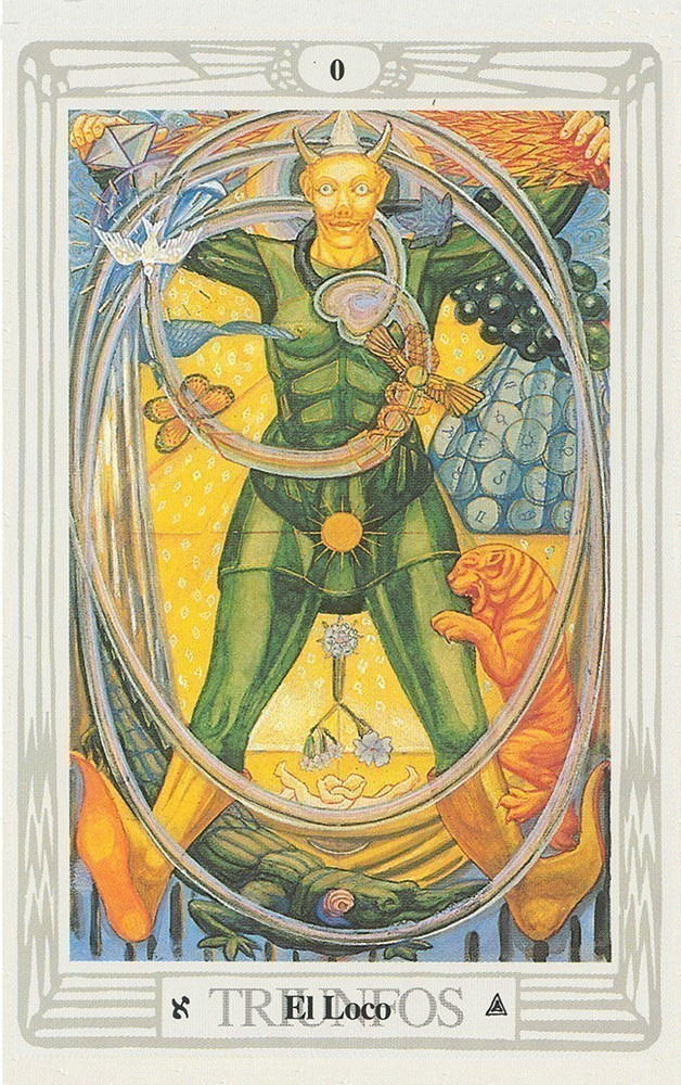 Spanish Crowley Thoth Tarot Deck Small