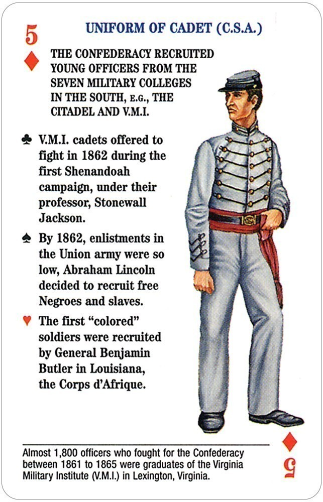 Uniforms of the Civil War Card Game