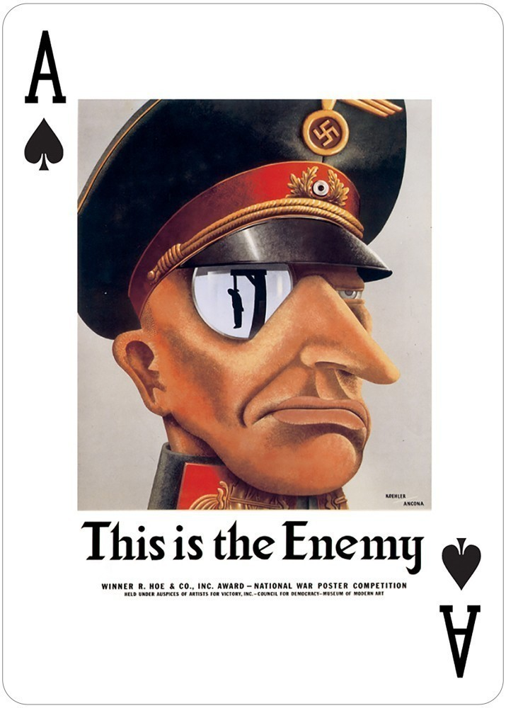 USA Posters of World Wars I and II Poker Deck