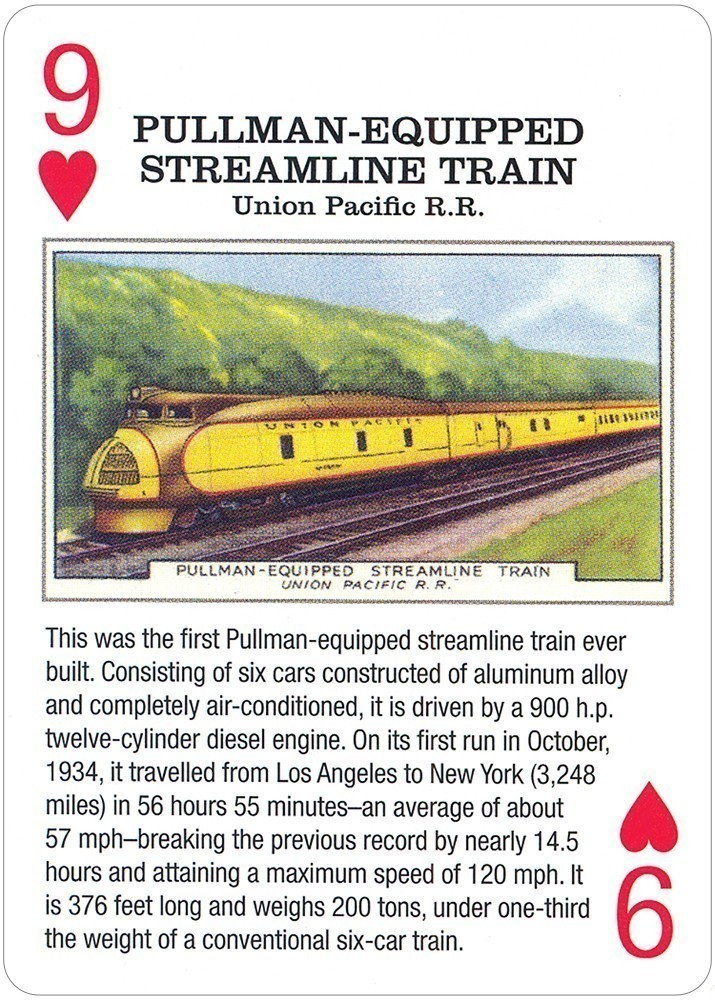Vintage Railroad Playing Cards