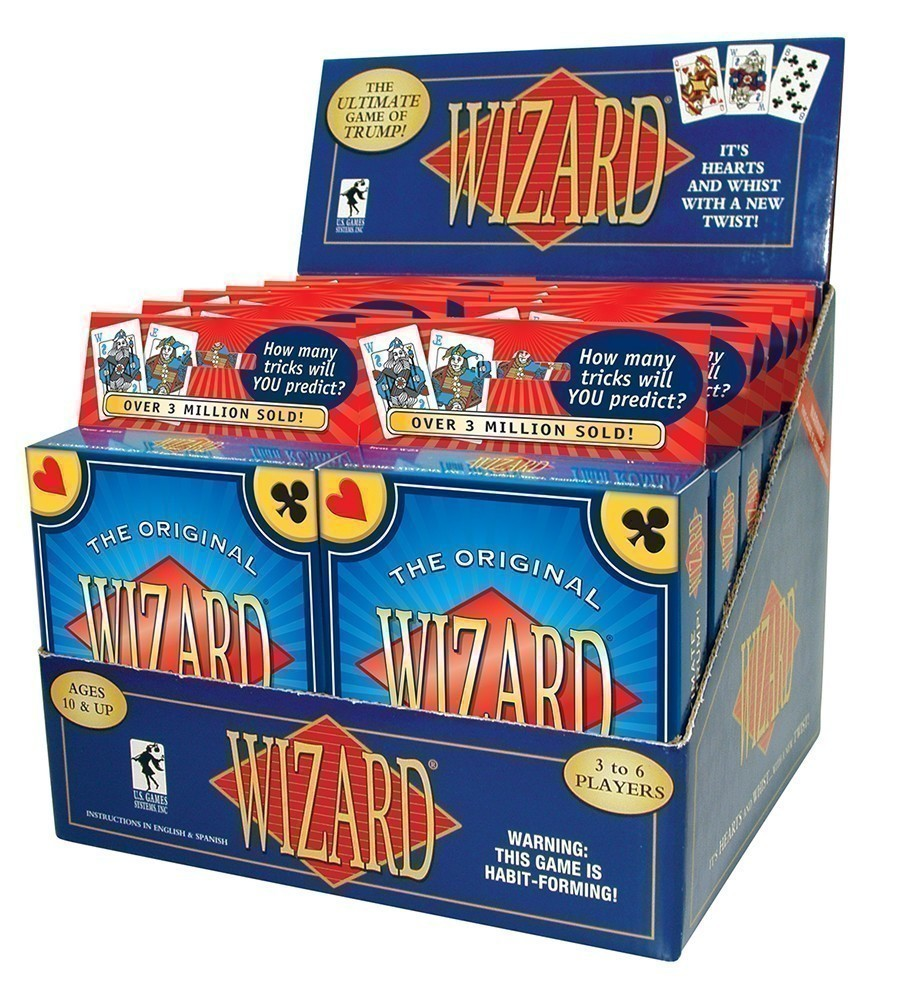 Wizard® Card Game 12-deck Display