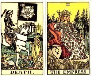 Rider Waite Smith | Death vs. The Empress