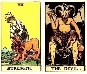 Rider Waite Smith | Strength vs. Devil