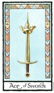 Old English Tarot Ace of Swords