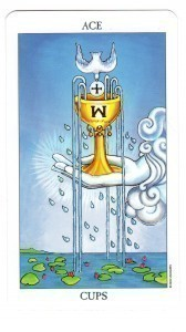 Radiant Rider Waite Tarot Ace of Cups