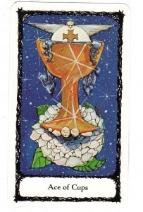 Sacred Rose Tarot Ace of Cups