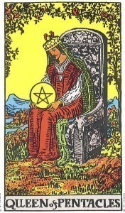 Rider Waite Smith Queen of Pentacles