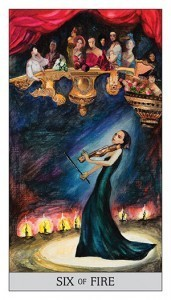 Japaridze Tarot Six of Fire