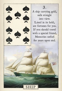 Blue Bird Lenormand Ship